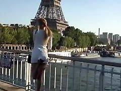 Sexy tranny in short dress walking Paris