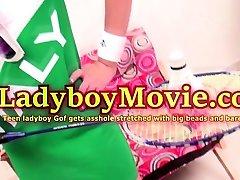 Ladyboy Gof Toyed and Fucked