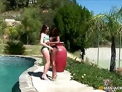 Strapon lesbians having fun