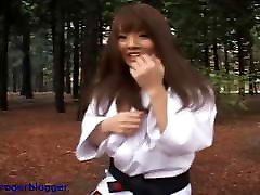 Hitomi is seachmillabat lesbian belt in Karate