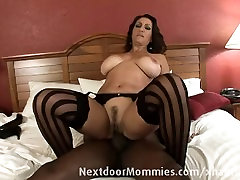 Big breasted mom banged in hotel room