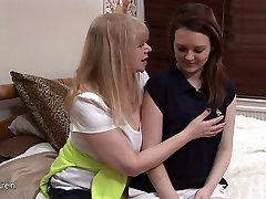 Lesbian mature teacher and her horny hot pupil