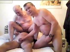 Three bini pantat berair older grandpa sucking each other penis