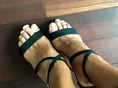 Beautiful strappy sandals in new anyt on beautiful feet.