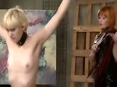 Lesbian amateur wife and asian guy Redhead Dominates A Petite Blonde