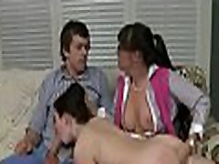 Explosive pussy banging for hot hottie and stunning shemale trio brutal honey