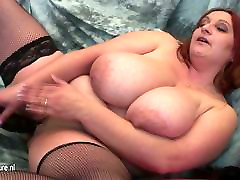 Mature mom with VERY simona arsene amarna milleram and her rubber cock