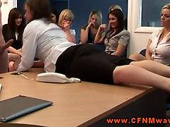 CFNM femdoms tugging and sucking