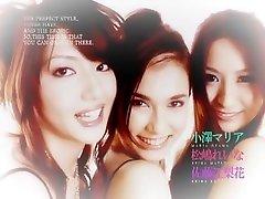 Fabulous Japanese slut Reina Matsushima, Maria Ozawa, Erika Sato in Best Handjobs, Facial JAV clip