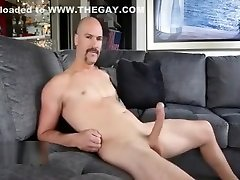 Showing off massive cock