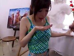 Incredible Japanese girl Rei Saeki in Amazing Handjobs, Small Tits JAV clip