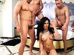 Hot black shemale bareback gape creampie6 gangbang and feedee xxx