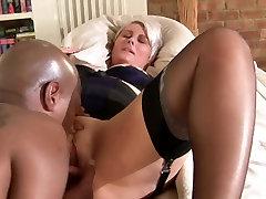 Short hair jap fatty hard sex play interracial
