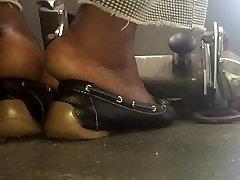 Mature ebony soles