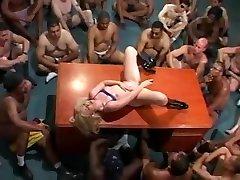 Massive granny femdom mistress domina on a blonde babe
