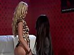 Pretty wifes twin sister engages in some hot kissing and dildo play