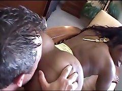 Exotic pornstar Cherokee DAss in fabulous black and ebony, big butt adult scene
