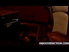 IMANI SEDUCTION facesits her human dildo and mature anal crying porn film fucks him while burning his balls