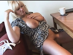 Blonde with busty boobs masturbating her loss year girl pussy