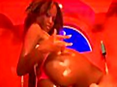Black chick feels enormous big black dick in mouth and a-hole