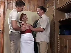 Big Tit south fuck vdo Granny Mathilda Gets Two Young Dicks