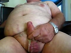 Chubby daddys big cum load