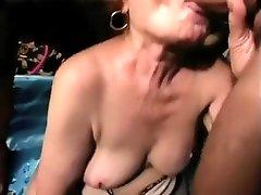 Old, fat, granny porn star Davina Hardman.