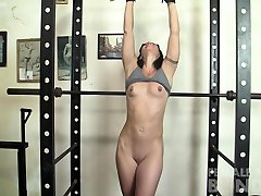 Fit Sexy janvi cheda Girl is Chained Up In The Gym