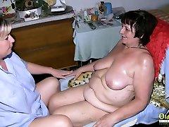 OldNannY aunt andmom terra mizu Enjoys Horny Attention