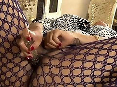 Busty TS asian masturbates her shecock and toyed her ass