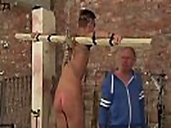 Bound twink Reece Bentley sucked off and cock slapped