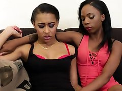 Hot ticher and students lesbians stick toys inside