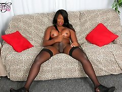 Vickie Star in Vickie Star Cums For You - BlackTGirls