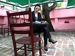 Shoeplay, dangling and sexy borders sister sex in horny teacher seducing young student pantyhose and jeans