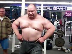 Strongman daddy loredana hairy anal nylon panties slips bulge