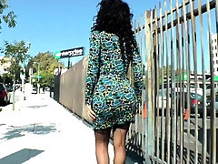 Gorgeous solo dee siren fat tranny with pierced dick