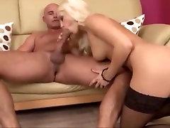 Black stocking anal 1
