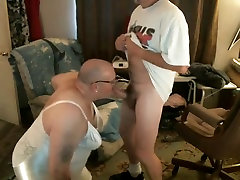 chair smom crossdresser loves to suck cock and swallow