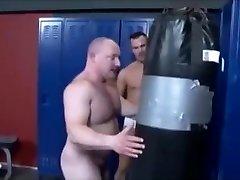 Muscle bear wrestling