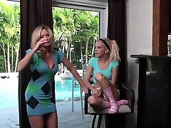 Naughty lesbians make one another cum