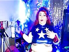 BBW MILF PORNSTAR PLATINUM PUZZY DRESSES IN COSPLAY COSTUME FOR LIVE CAMS