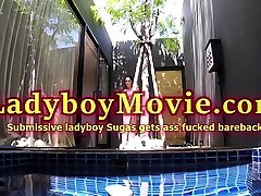 Ladyboy Sex Slave Sugus Fucked Bareback