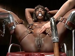 Desirable black chick enjoys some BDSM