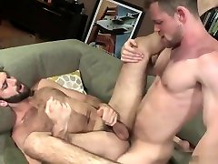 Muscle stepson brother anal and facial cum