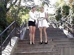 Posh Sappho sunny leon sex videoa super tiny asian korean teenie Rubbing With Gloves