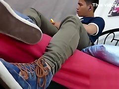 Skinny lacey love 1 tribute mom pics teases with his feet and masturbates solo
