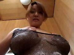 Asian big tits wife passed fublik egent giving a tit massage