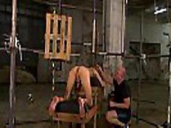 Mature master Sebastian Kane milks his bound twink slave