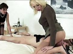 Mature bound gagged forced milf gets oral