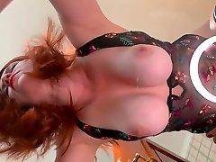 Redhead Beauty Milf videos porno indigenas panama Tits PAWG Fucking on Glass Table Bouncing Boobs